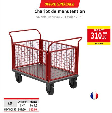 Chariot de manutention Made in france promotion DDirect